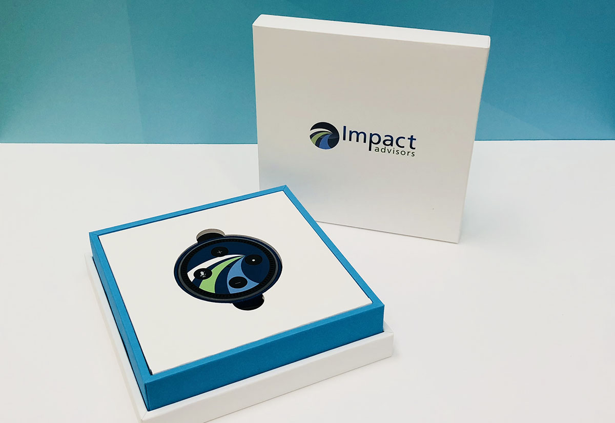 Custom Echo Dot skin for Impact Advisors