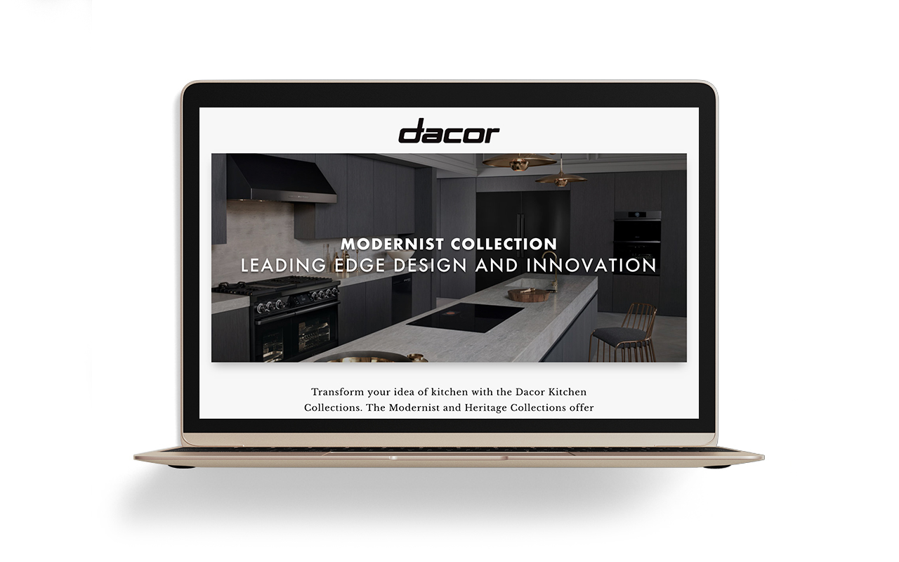 Image of Dacor House of Appliances DLP on a laptop