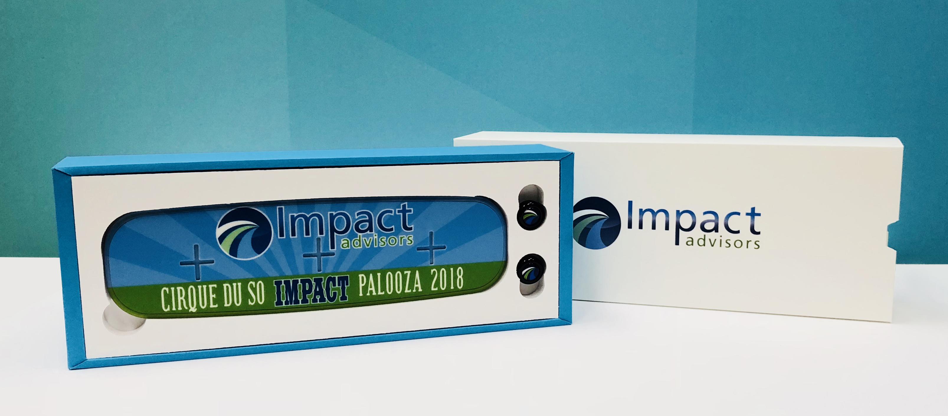 Custom wrap for Impact Palooza power bank and ear buds