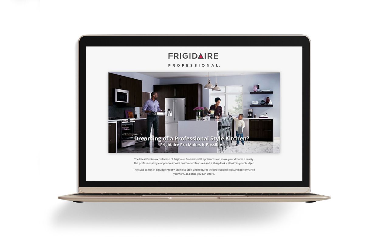 Image of Frigidaire Professional DLP on a laptop