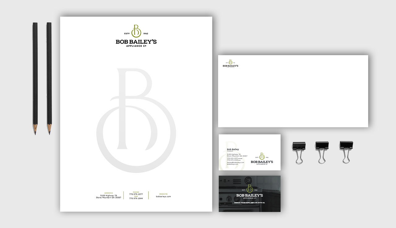 Bob Bailey's digital letterhead and business cards