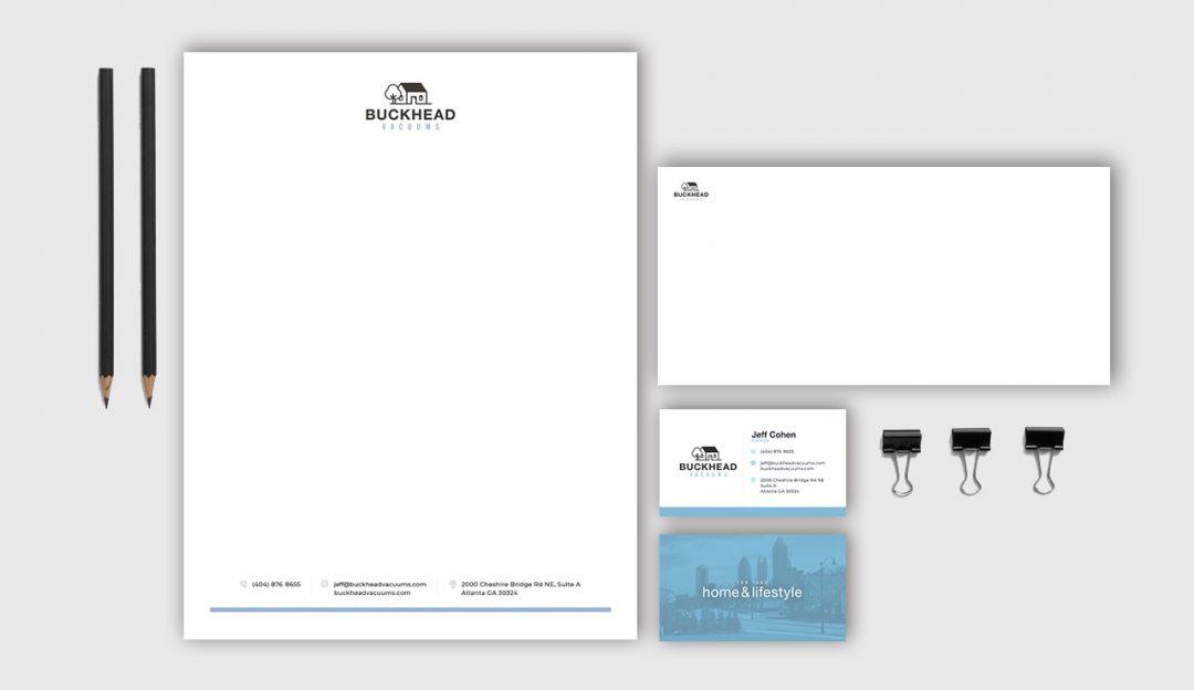 Buckhead Vacuums digital letterhead and business cards